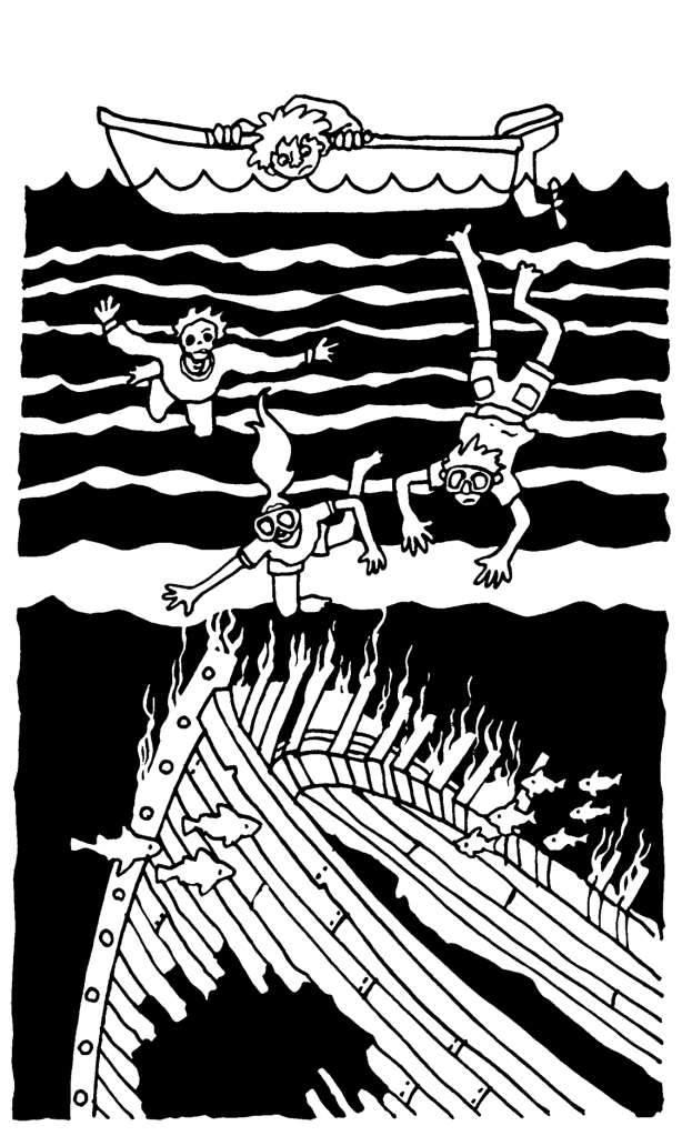 Cold Case Kids: Legend of the Phantom Reaper: Shipwreck dive