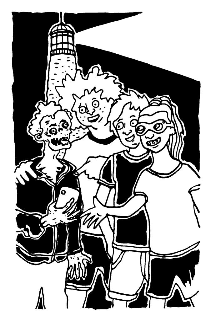 Cold Case Kids: Legend of the Phantom Reaper: four friends